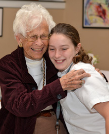 Ward Belmont Alumna (Mrs. Moran) with a young student